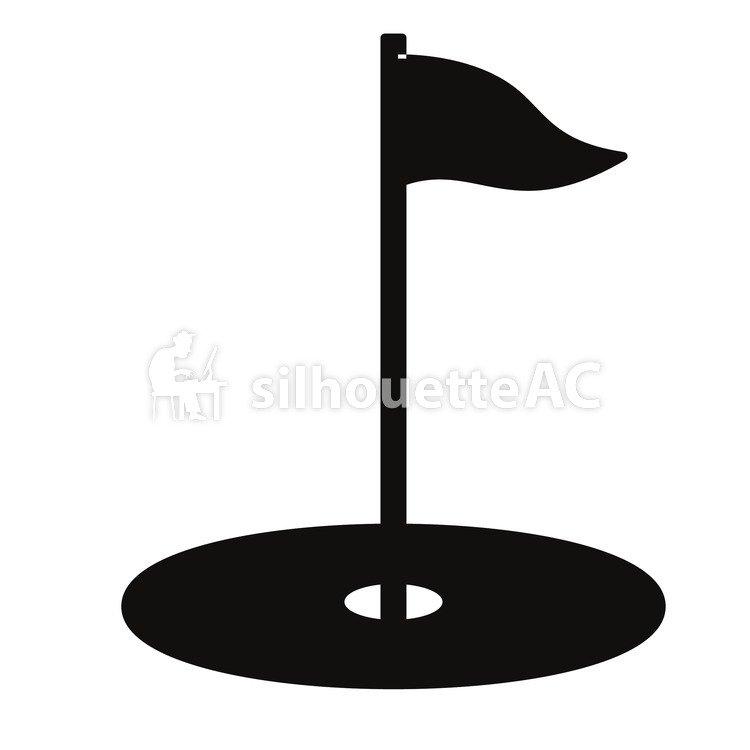 Kostenlose Silhouette Vektor Golf Loch Sport Schale Grun 152000