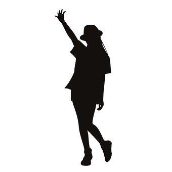 손을 올리는 여성