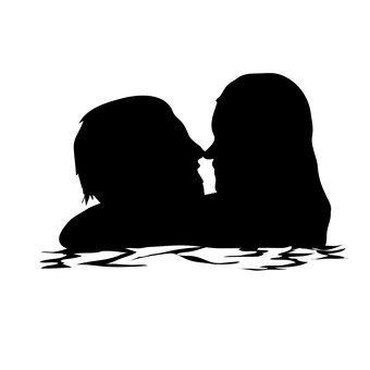 男人和女人彼此凝视