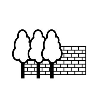 Bricks and trees