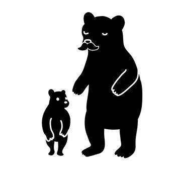 Parent and child of bear