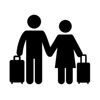 Two people to travel