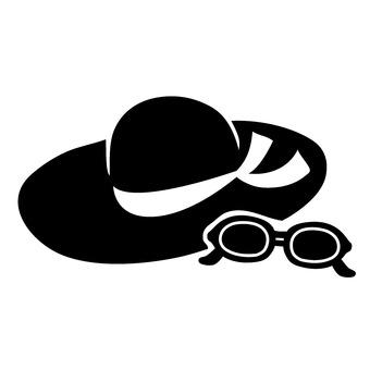 모자와 선글라스