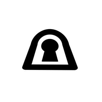 Keyhole-shaped keyhole