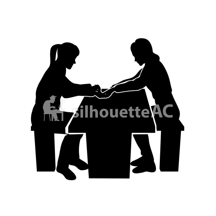 Free Silhouette Vector : nail, 2 people, A catch - 160527 | silhouetteAC