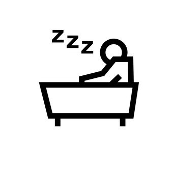 A person sleeping in a bathtub