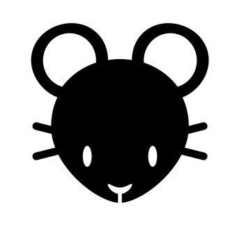 쥐 (검정)