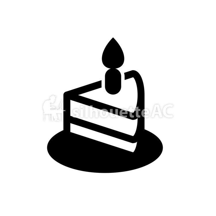 Kostenlose Silhouette Vektor Sussigkeiten Eine Kerze Abbildung