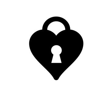 Heart's padlock