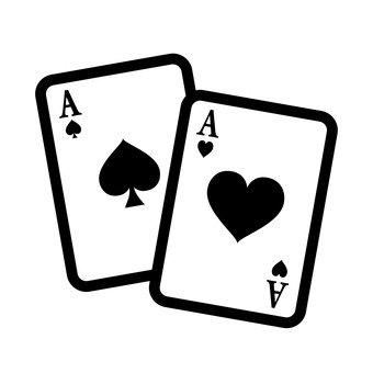 Duas cartas de jogar