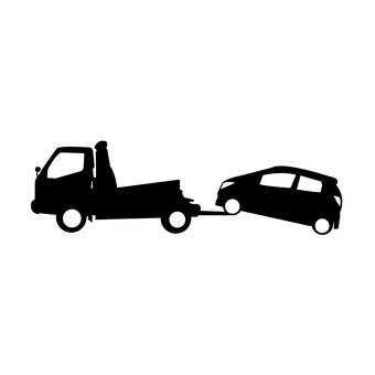 Accident vehicle to be towed