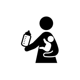 우유를 먹이는 부모