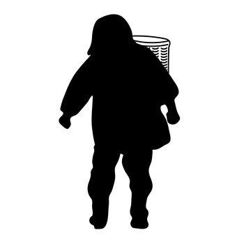 Женщина с корзиной