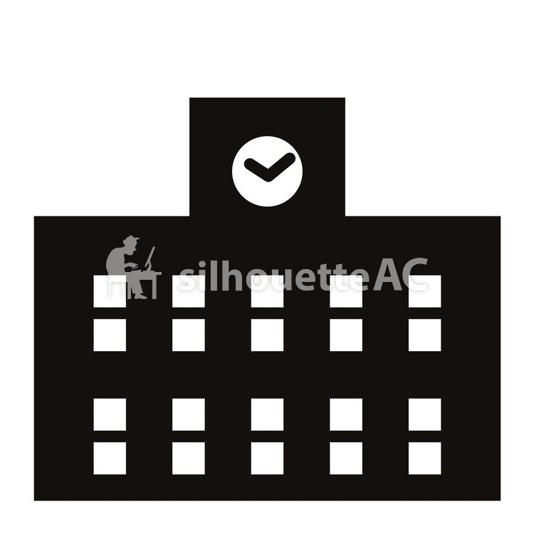 school building free silhouette vector silhouetteac school building free silhouette