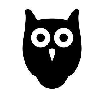 นกฮูก (สีดำ)