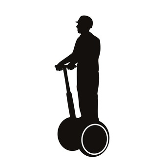 Electric standing motorcycle