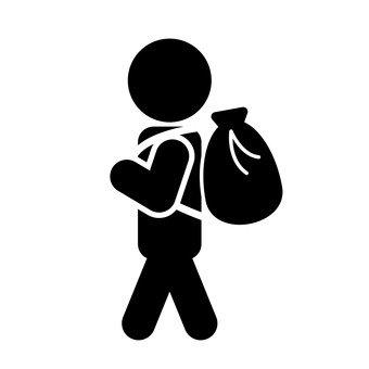 人們背負背包
