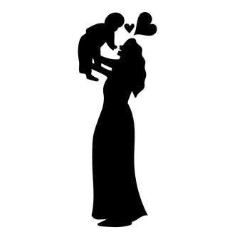 Mother holding a child