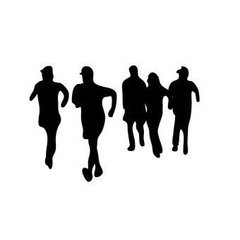 달리기하는 사람들