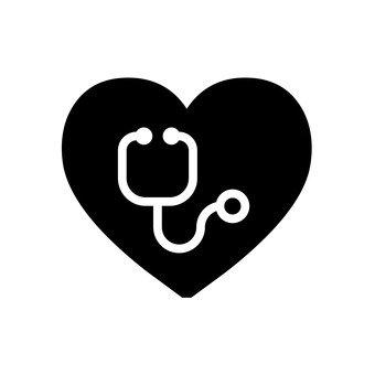 心臟和聽診器