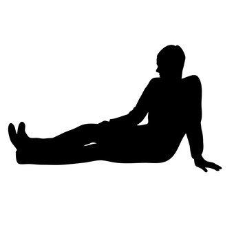 앉는 사람 남성