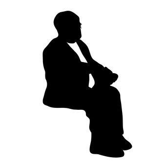 앉아있는 남자
