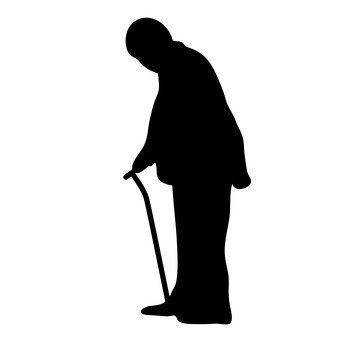 An old man with a cane