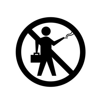 No walking cigarette