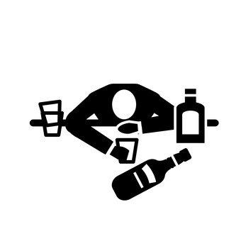 A drunk man