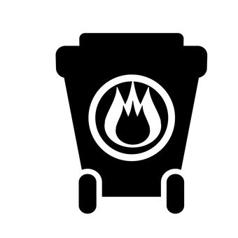 Trash can (combustibles)