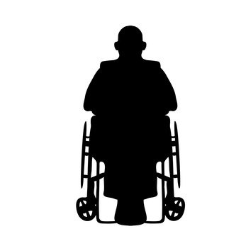 Wheelchair old man