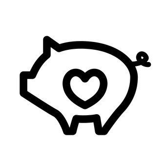 Heart pig