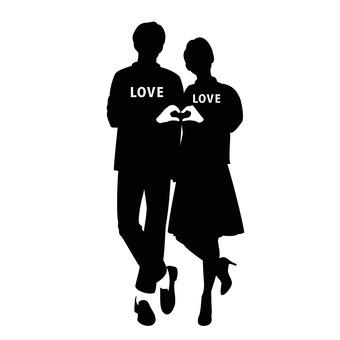Couple making heart