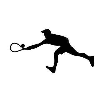 A man to play tennis