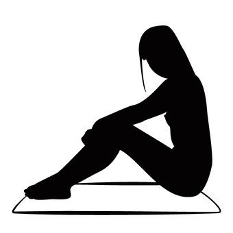 앉아 여성