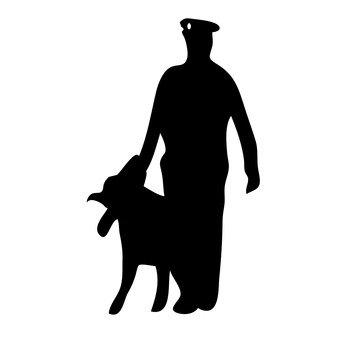 Police dog and policeman