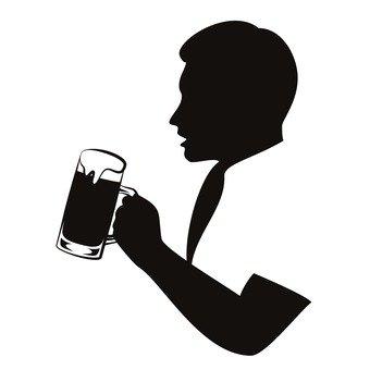 Erkek içki birası