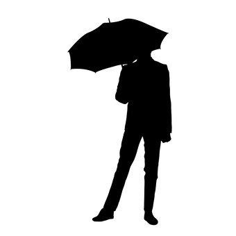 비오는 날 남성
