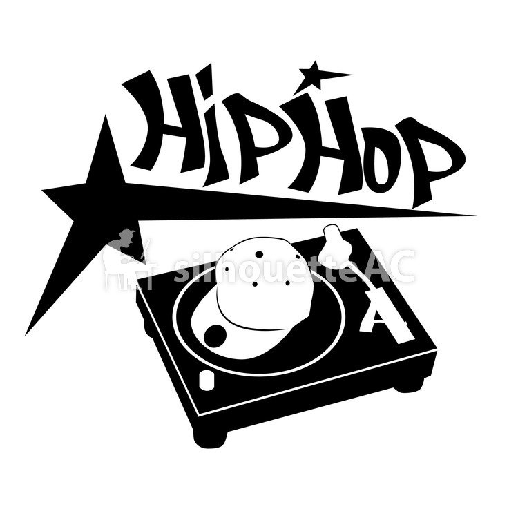 free silhouette vector   dj hiphop mc