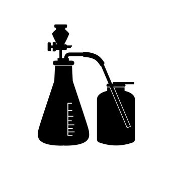 Erlenmeyer flask and collecting bottle