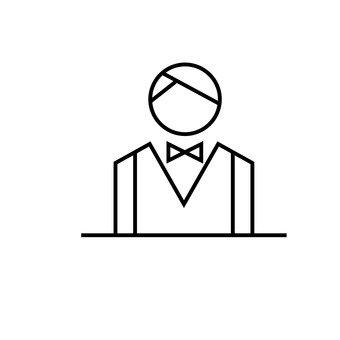 Frontman (white silhouette)
