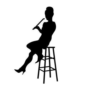 誰吸煙的婦女