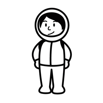 Woman in space suit