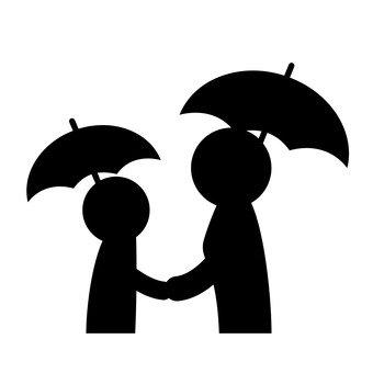 우산을 부모와 자식