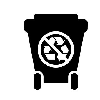 Trash can (not recyclable)