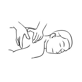 Massage (right shoulder blade)