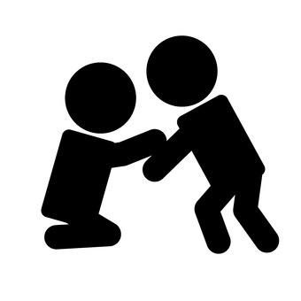 The person who offers his hand
