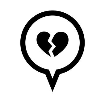 Speech balloon (broken heart)