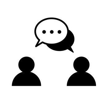 2 personas conversación