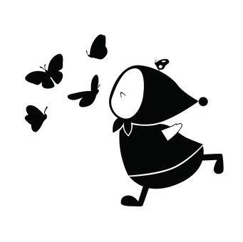 蝴蝶和兒童
